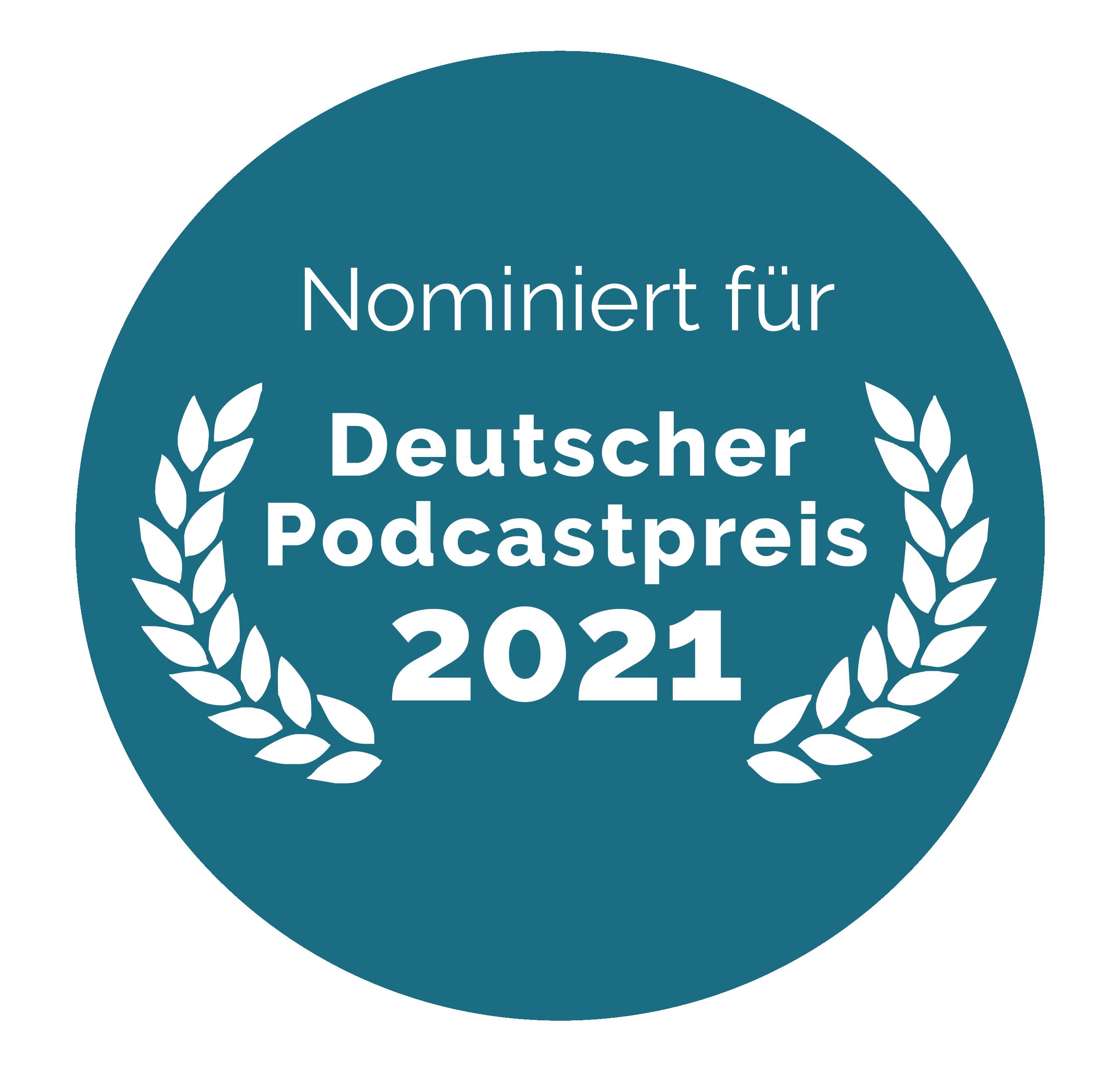 Auszeichnung Podcastoreis 2021